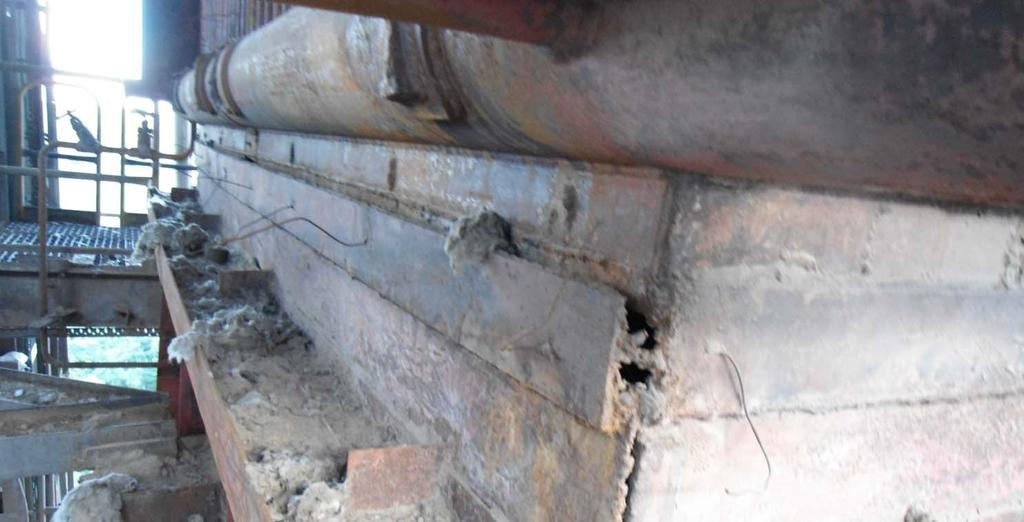 During the explosion, the improperly fused weld joint had