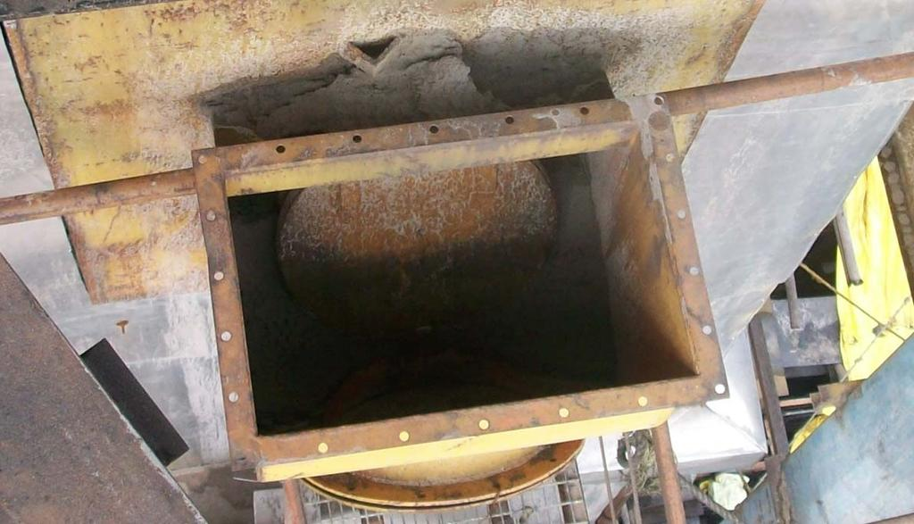 Photo 13: Typical explosion doors in a CFBC boiler by another
