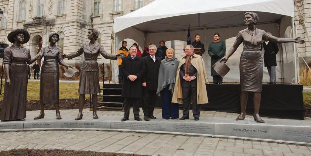 Highlights Unveiling of the Monument Honouring Women in Politics On 5 December 2012, the President of the National Assembly, Mr.