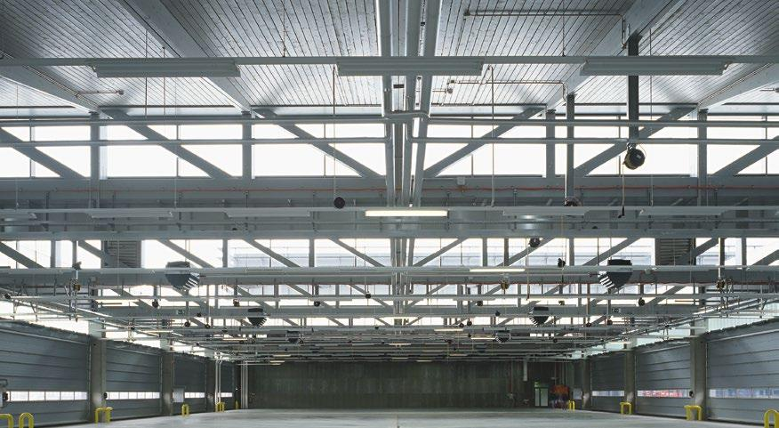 ROOF ELEMENTS FLEXIBLE AND COMPLETE Glulam beams for roof structures of hall buildings of all kind have been