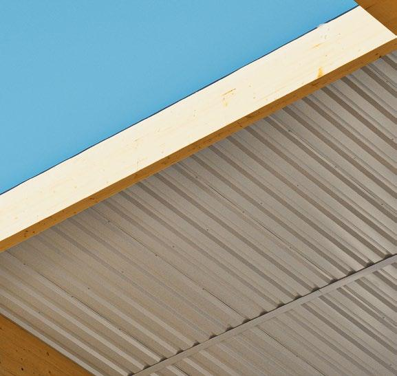 INTERNAL FACINGS WIDE CHOICE OF MATERIALS As for the roof coverings, Rubner Holzbau also offers a wide range