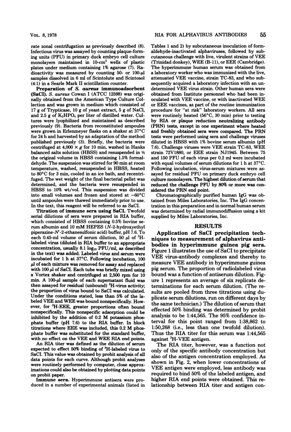 VOL. 8, 978 rate zonai centrifugation as previously described (8).