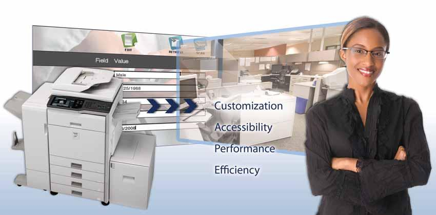Expand Your Horizons with a Sharp OSA-Enabled MFP Sharp OSA technology can transform your MFP into a powerful information portal that is highly customizable to the way you do business today and into
