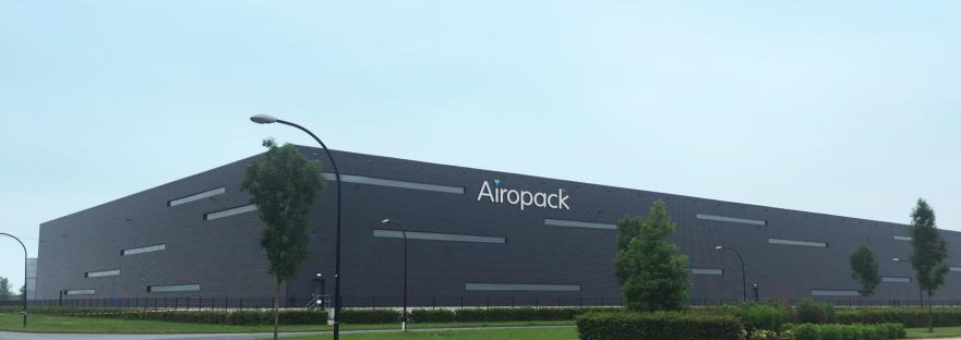 Airopack Technology Group 7 Airopack facility Airopack has transferred its RTF facility from Bilten, Switzerland to Waalwijk, the Netherlands.
