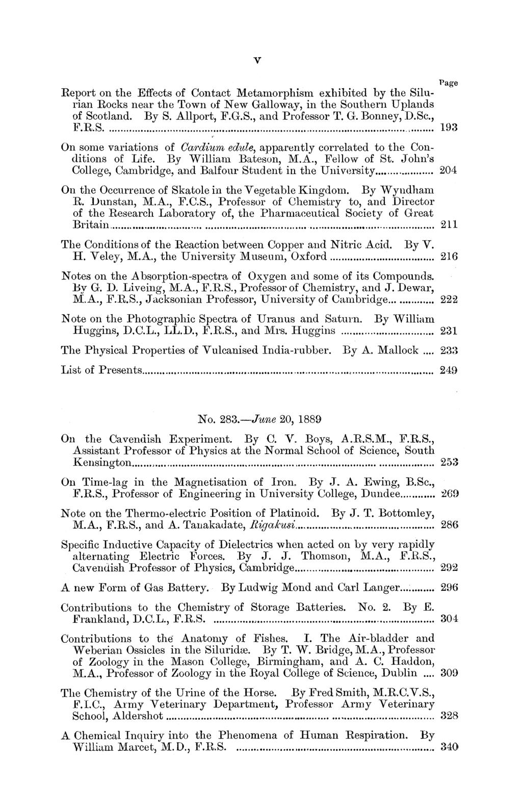 v Page Report on the Effects of Contact Metamorphism exhibited by the Silurian Rocks near the Town of New Galloway, in the Southern Uplands of Scotland. By S. Allport, F.G.S., and Professor T. G. Bonney, D.