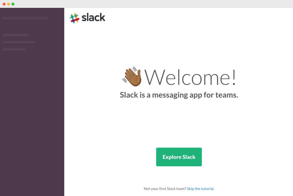 Welcome to Slack Slack is an easy-to-use messaging app for teams that brings all your communica@on into one place and integrates with your exis@ng tools.