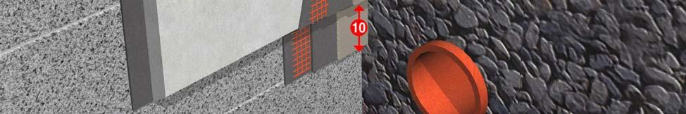 on to substrate or existing water barrier) 11 Drainage stone (30cm x 60cm) 12 Existing DPC 13