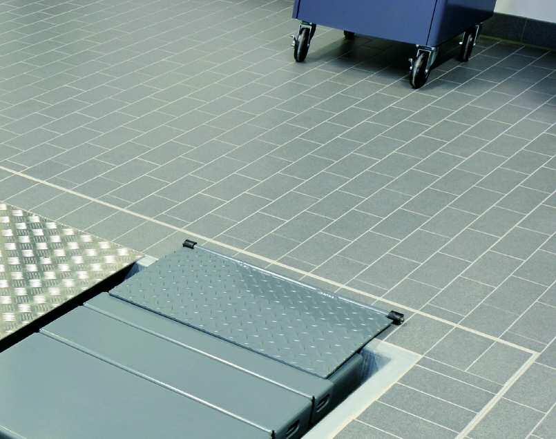 garages, car-washes and the like. Adjoining functional areas can also be designed with these tiles.