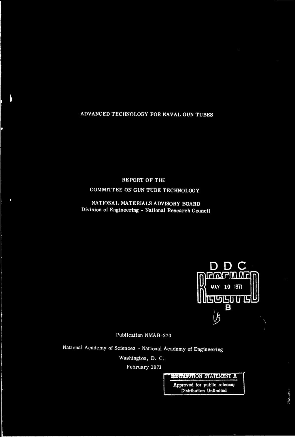 1971 E ED 0 B B Publication NMAB-270 National Academy of Sciences - National Academy of Engineering