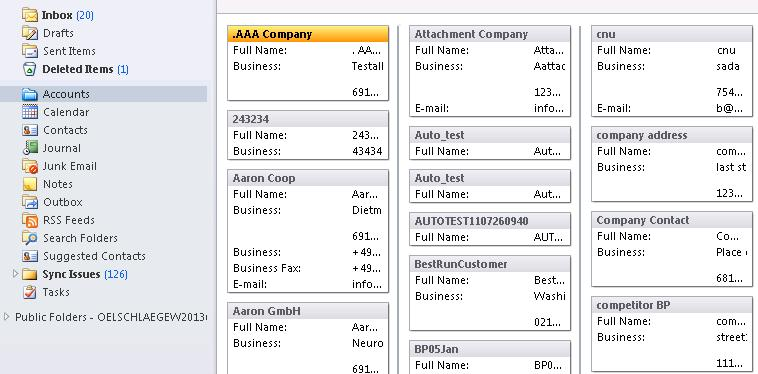 Accounts List View and Filter Criteria Account information available in various views Accounts get