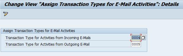 IMG Configuration (5) Definition of the two transaction types that are