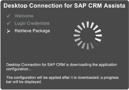 First Run Assistant (1) Basic Settings and Customization Package Retrieval Logon information of the CRM backend Connection