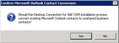 contacts into unshared CRM