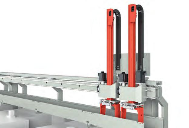LP 100 Gantry Portal Fast Powerful Flexible The LP 100 gantry portal is available in the versions standard, heavy duty with maximum weight of 280 kg, and high speed with a 80 % faster axis