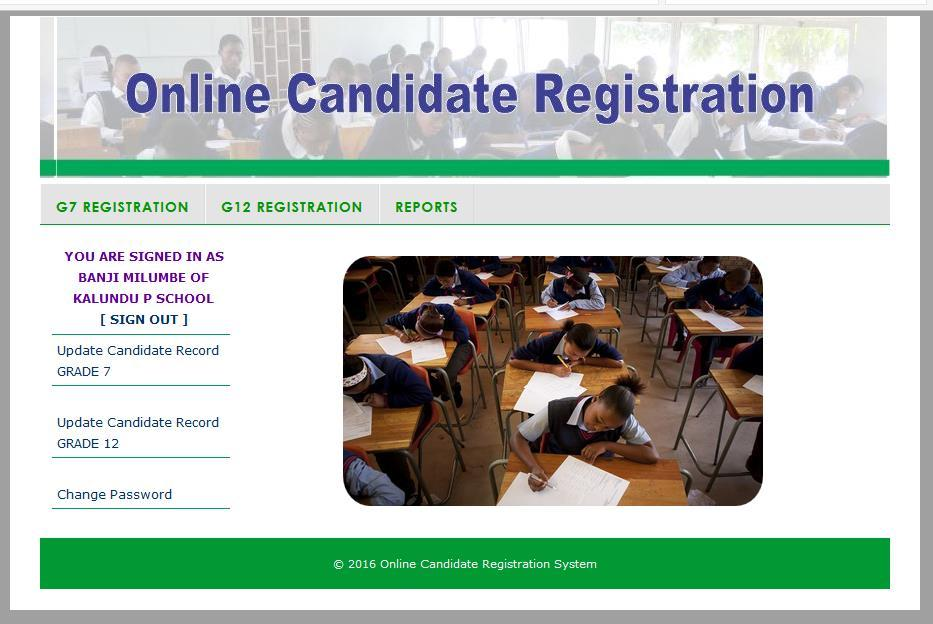 4.3.4 Registering Candidates The School guidance teacher is responsible for registering candidates at a school level.