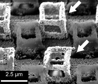 TAKEYASU et al. Fabrication of 3D metal/polymer microstructures by site-selective metal coating 209 FIGURE 6 SEM image of silver/polymer 3D microstructures.