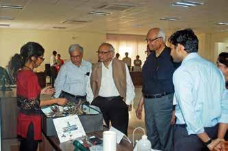 Tech students at SERC presented project on display for dignatories and students. The ceremony was presided over by the Chairman and Chancellor, AcSIR Dr. R.A. Ma