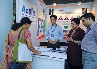 3 Educative stall at IGIB, New Delhi AcSIR put up a stall for information dissemination on various academic programs of AcSIR at Institute of Genomics and