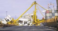 MARCH 2003 Surabaya crane collapse Further information has emerged regarding the crane collapse at Terminal Petikemas Surabaya (TPS) in Indonesia in February, resulting in the tragic death of the