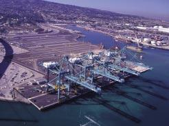 PORT DEVELOPMENT So long as it s green The on/off New Century container terminal at Berth 100, Los Angeles is on again following a negotiated settlement between the port, China Shipping and community