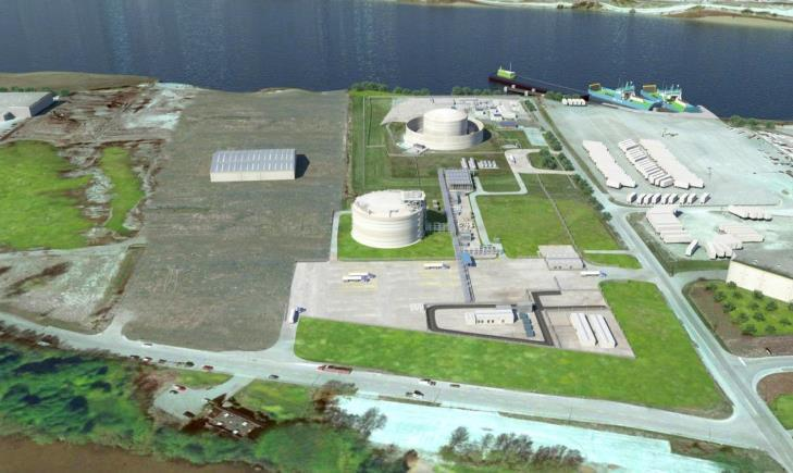 Alternate 2 Canadian LNG supply Tilbury Phase 1a expansion (Artist Rendering) - Aerial view WesPac has direct access to Tilbury LNG (Fortis BC) Located on