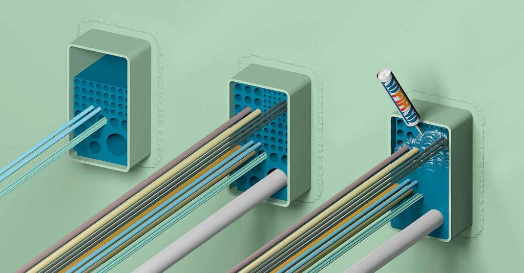 Are cable gas penetration tight wall