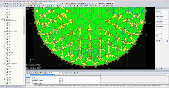 ATECO TANK GEODESIC DOME ROOF DESIGN PHASES ATECO DOME FRAME STRUCTURAL ANALYSIS FEA is a powerful 3D FEA program helping structural engineers to meet requirements in modern civil engineering.