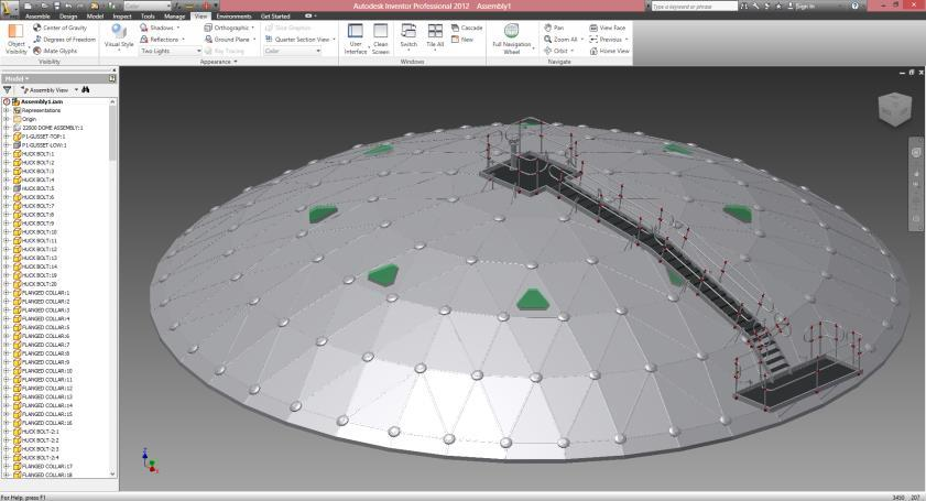 ATECO DOME 3D MODELLING 3D CAD software for mechanical design ATECO TANK GEODESIC DOME ROOF DESIGN PHASES 3D CAD software offers an easy-to-use set of tools for 3D mechanical design,