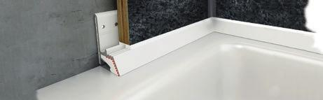 The 2mm wide rods are available by the linear metre in a base colour matching your chosen WetFlor décor.