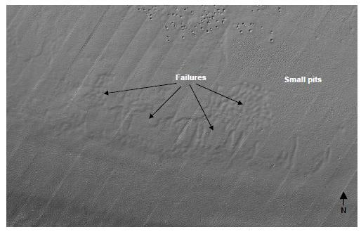 106 of 279 Figure 4-23 Shaded relief image of seabed, seabed failure (1.6 km x 2.