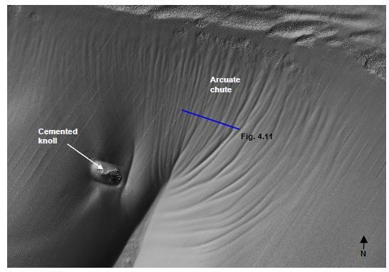 108 of 279 Figure 4-25 Shaded relief image of seabed, canyon head chute (4.3 km x 6.