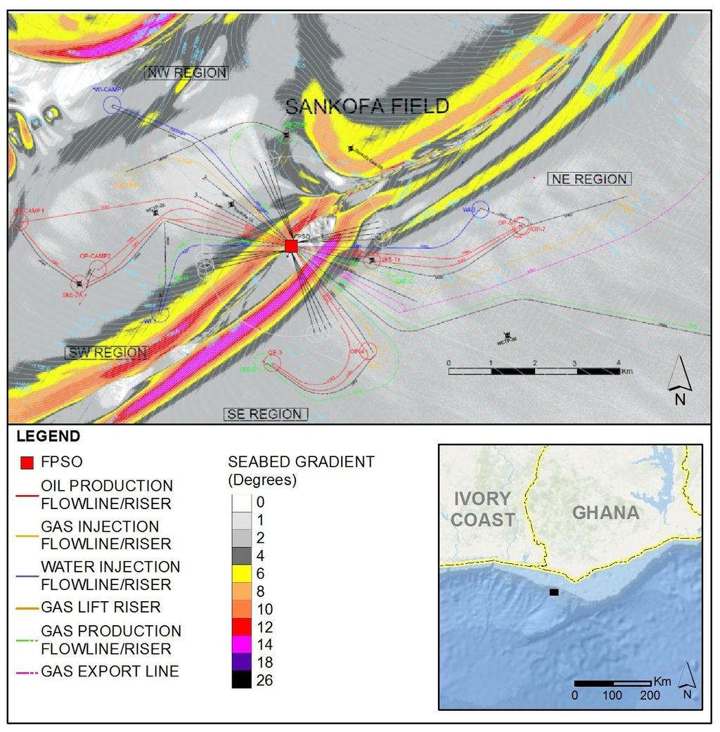 43 of 279 84km Figure 2-10 and Figure 2-11 present the OCTP proposed subsea layout,