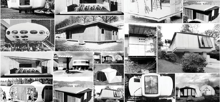 Figure 1.2 Mid century experimental prefabricated house designs. 1940-1970 1.2 SCENARIO. Architectural design involves a complex process of multiple creative stages.