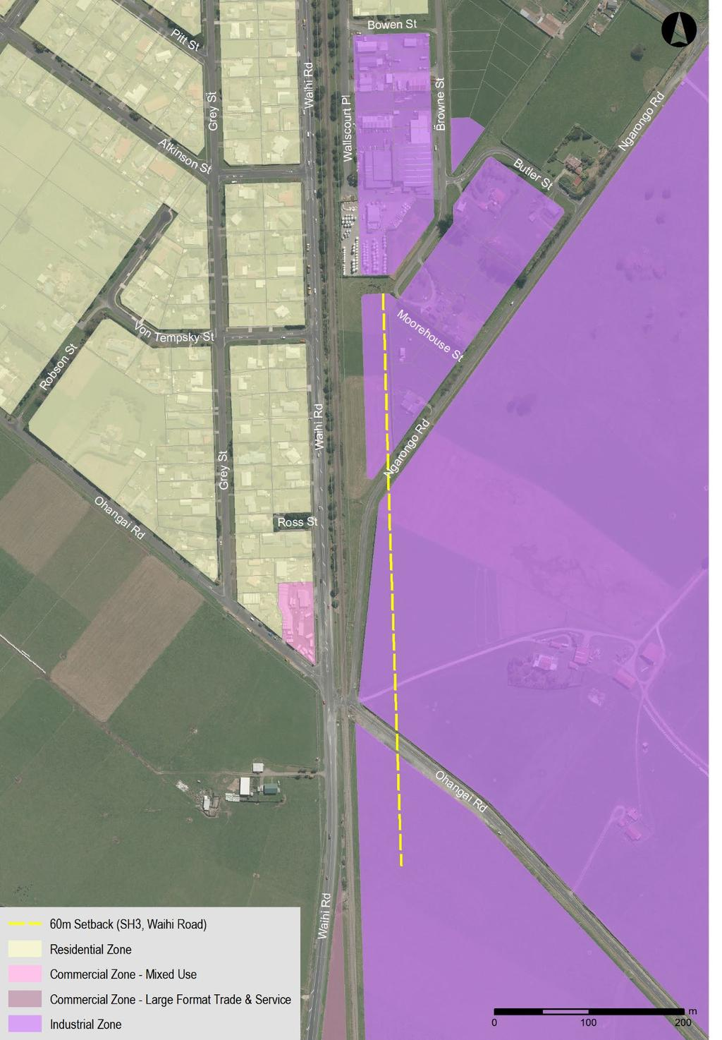 7.4 Industrial Zone Appendix 1: 60 metre building setback from State Highway