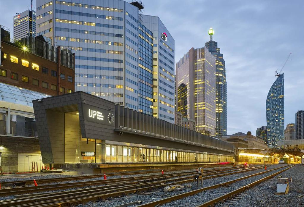 1 PROJECT OUTLINE The Union Pearson Express is a significant urban transportation project that provides express, high-quality rail service, connecting Union Station in downtown Toronto with Terminal