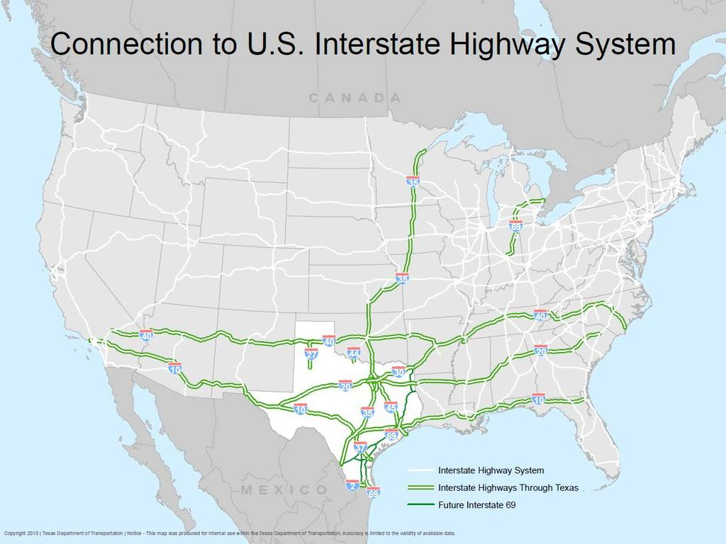 Importance of the Interstate System Texas is an integral part of the national interstate system.