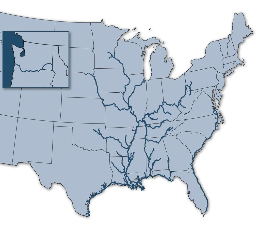 America s Inland Waterways: An Inland Marine Highway for Freight Transportation Portland Tulsa Minneapolis/ St. Paul St.