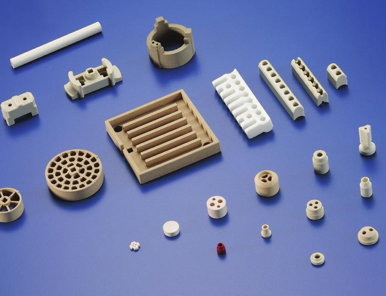 technology and in household appliances Pump components for sliding ring bearings, pistons, seals,