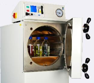 EQUIPMENTS & MATERIALS COMMONLY USED IN A LABORATORY a) Autoclave: An autoclave is a device used to sterilize equipment and supplies by