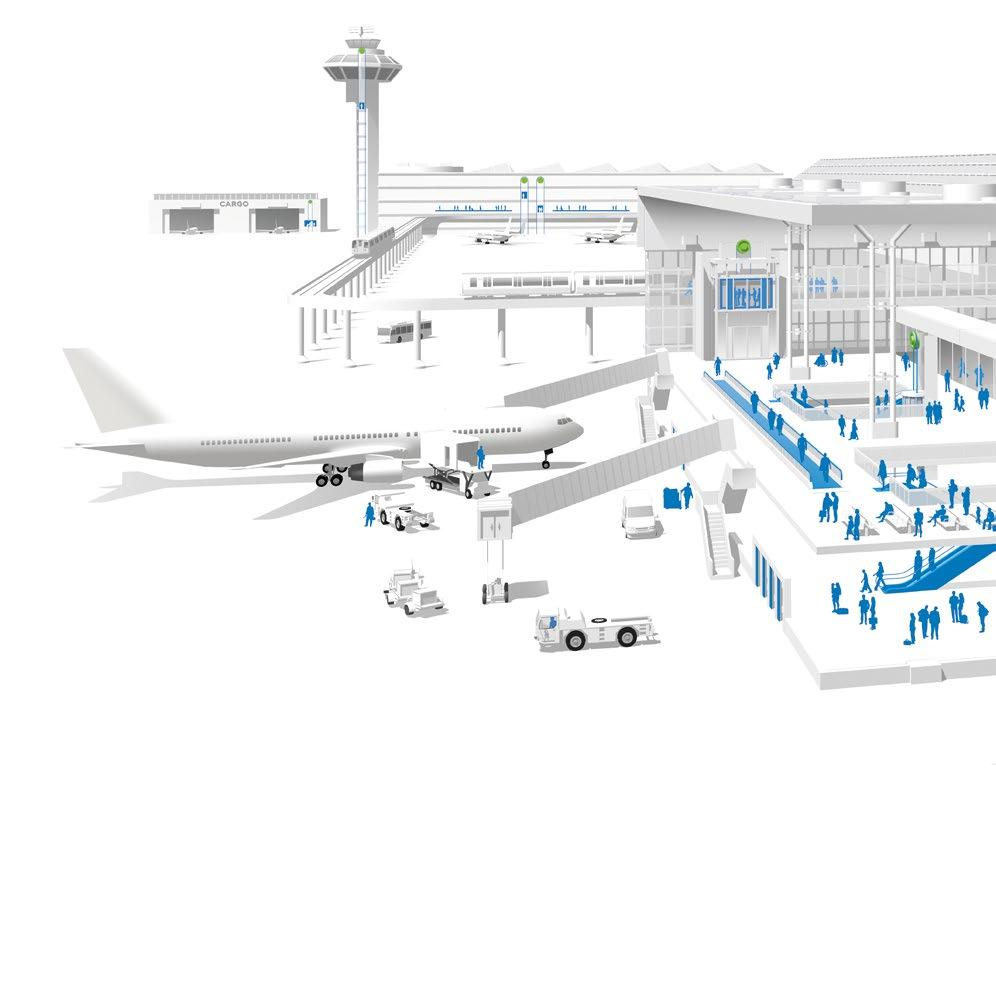 MANAGING THE FLOW OF PEOPLE AND GOODS THROUGH AIRPORTS SMOOTHLY AND EFFICIENTLY 5 7 3 8 11 KONE SOLUTIONS FOR AIRPORTS 1. Heavy-duty elevators 2. Mid-duty elevators 3.