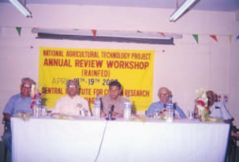 ANNUAL REPORT Annual workshop 2002-03 held at CICR, Nagpur on April 18-19, 2003 for review of PSR projects recommendations were made on improvement of the technical programme and linkages between PSR