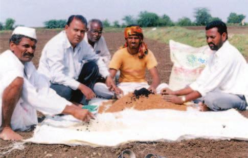 RAINFED AGRO-ECOSYSTEM Demonstration of seed treatment with Trichoderma viride at farmers field in Maharashtra Farmers field