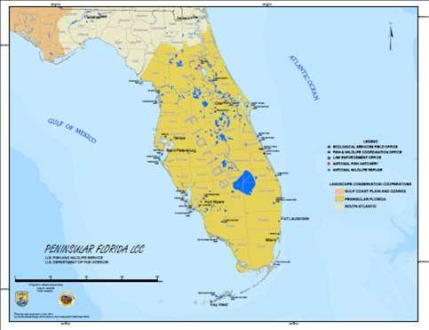Figure 2. Geography of the Peninsular Florida Landscape Conservation Cooperative.