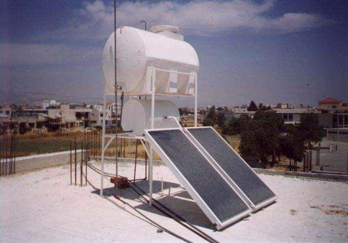 Typical thermosyphon solar water heater TEI Patra: 3-18