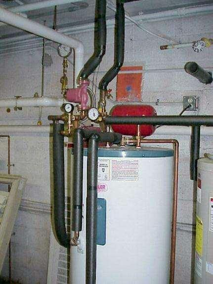 Cold climates Indirect system with heat exchanger that contains fluids in