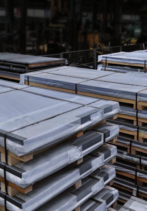 1 flattening line manufacturing capacity: 100 000 t/y Stainless steel hot rolled sheets product: hot rolled sheets 1D finish Min. thickness (mm) 2,00 Max. thickness (mm) 10,00 Min.