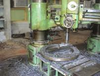 We are having a well-equipped machine and forge shop, cutting shop and