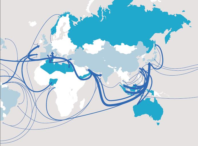 LNG maritime routes and trade