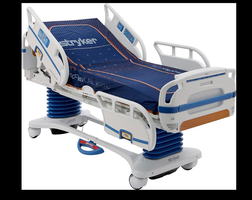 ambulance cots and fasteners, temperature management solutions, interconnected technologies, and hospital room furniture.