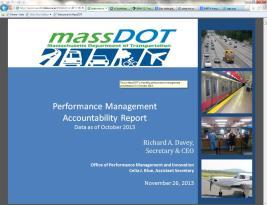 Environmental Sustainability Reduced Project Delivery Delay MassDOT Office of Performance